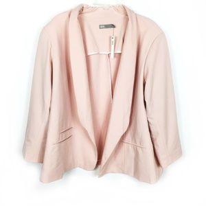 ASOS Curve Pale Dusty Pink Open Front Blazer 22